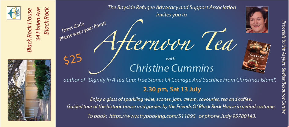 Flier for Afternoon Tea with Christine Cummins