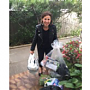 Julia Esmonde leaves some generous donations for refugees