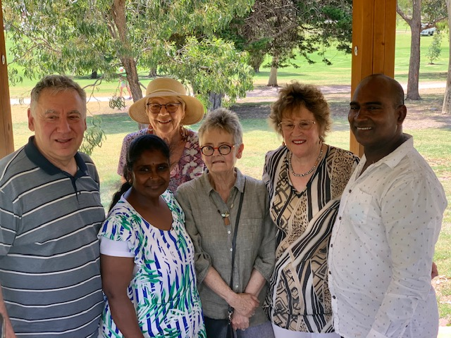 Stan, Shanthi, Judy, Robin, Lyn and Velu at the December 2020 picnic